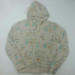 Mickey Mouse Hooded Sweatshirt Cream Large
